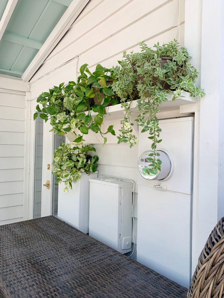 plant shelves on porch closer vertical