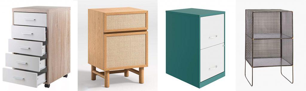 Storage Piece Moodboard with 4 Under Desk File Storage Options