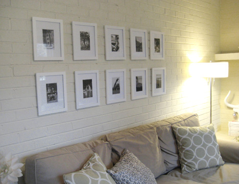 Create A Black And White Art Wall By Hanging Photographs In A