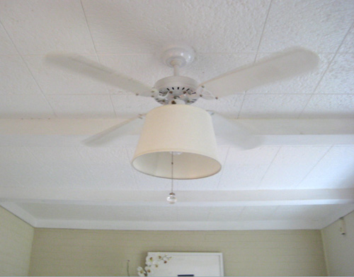 Update an old fan on the cheap with a chic shade to makeover your fan shade lamp shade fan update current fan aloadofball Choice Image