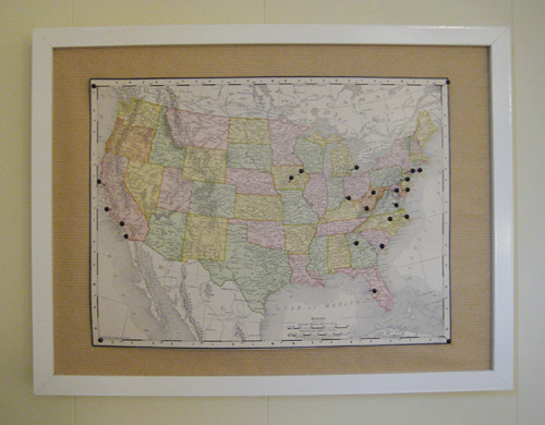 A Travel World Map with Pins Decor Adventures – Fill In Travel Map