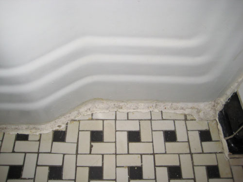 Clean Vintage Bathroom Tiles Caulk More Cleanly With Painters Tape - Best way to clean bathroom wall tiles