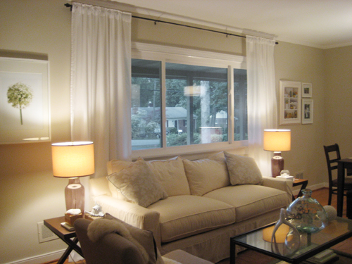 Make Your Picture Windows Look Huge By Hanging Bamboo Blinds And ...