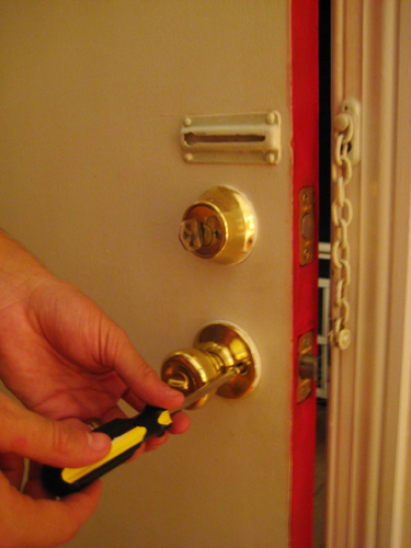 Dress Up Your Front Door By Installing A New Doorknob