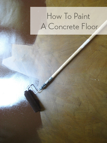 how to paint a concrete floor. Black Bedroom Furniture Sets. Home Design Ideas