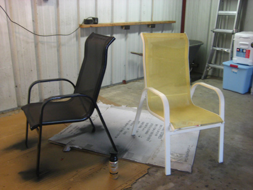How to spray paint almost anything and transform your furniture in an afternoon Spray painting metal patio furniture