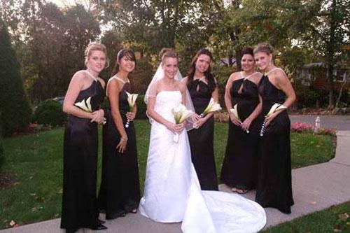 purple black and white wedding reception