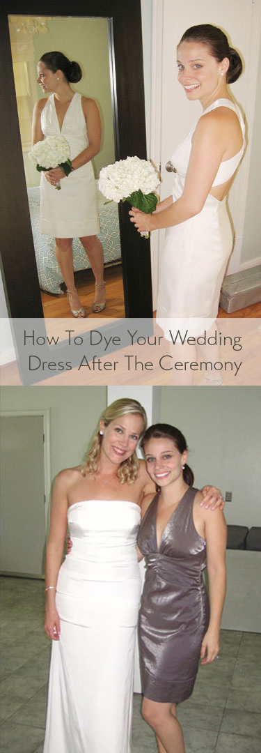 How To Diy Dye Your Wedding Dress And Wear It Again And