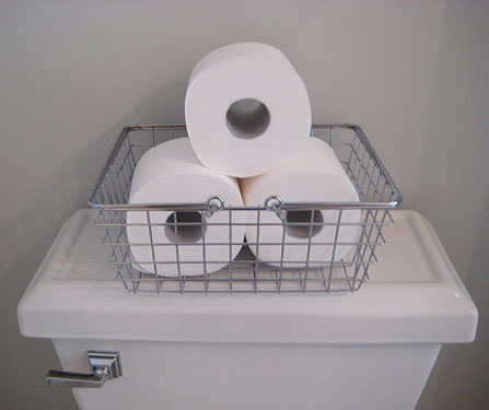 Make even toilet paper look chic by storing it in stylish ways for Storage for toilet rolls