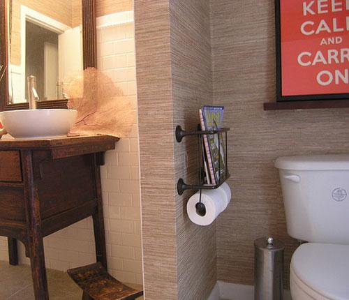 Bathroom textured wallpaper images for Textured vinyl wallpaper bathroom