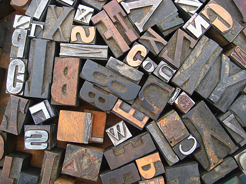 wood block letters finding at the flea market 25665