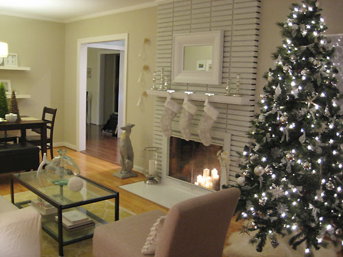 and since were talking trees heres how we decorated ours back in 2007 2008 with the same white and silver scheme - How To Decorate A White And Silver Christmas Tree