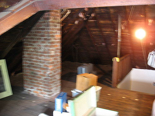 Unfinished Attic Hangout Room