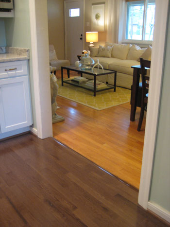 What to expect when you refinish your wood floors Different tiles in different rooms