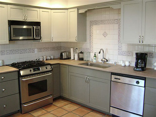Painting your kitchen cabinets is easy just follow our for Two colour kitchen units