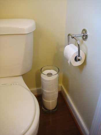 Make Even Toilet Paper Look Chic Storing Stylish Ways