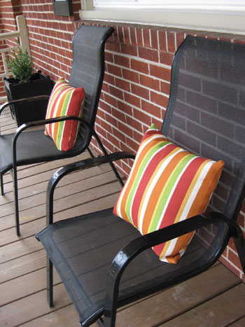 Black Porch Chairs Outdoor Pillows