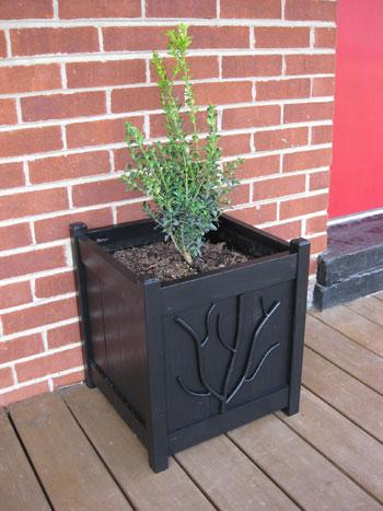 black-square-planters