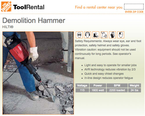 homedepottoolrentaldemolitionhammer