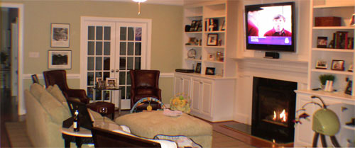 Living Room Built In Bookcases Makeover