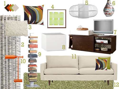 This sleek and modern mood board will totally transform for Modern living room mood board