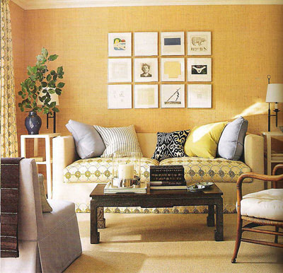 House Beautiful Room Coordinated Matchy Matchy Decorating design