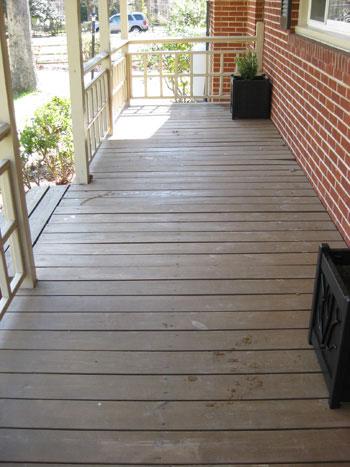 Brilliant How To Paint A Wood Deck Or Front Porch We Did Subtle Stripes Largest Home Design Picture Inspirations Pitcheantrous