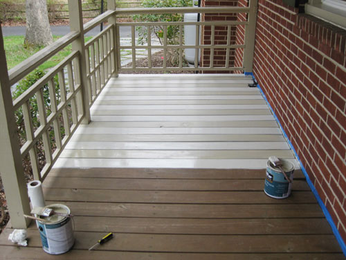 how to paint a wood deck or front porch we did subtle On deck floor paint