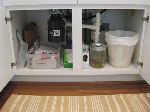 Exceptional Under The Kitchen Sink Exposed Recycling Compost Garbage
