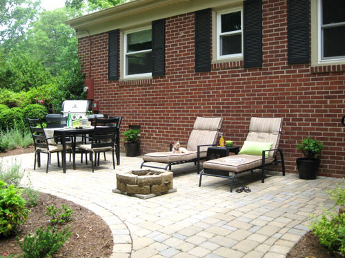 Our $319 Patio Makeover (Complete With Loungers & A Fire ... on Affordable Backyard Ideas id=41026