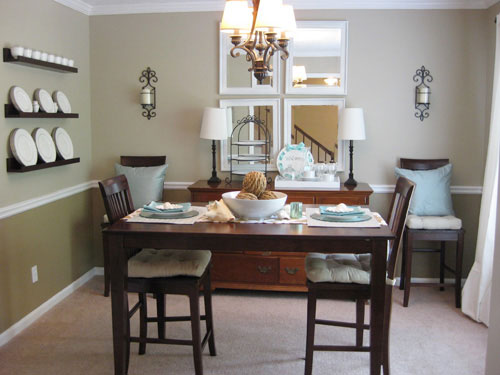 House crashing table setting young house love for Small dining area ideas