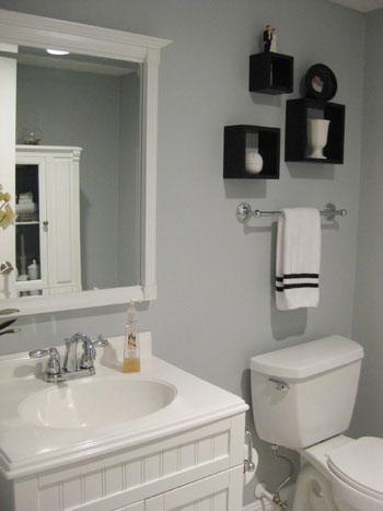Half Bath & Laundry Room; Before and After - Bathroom Designs