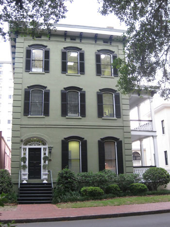 On the road again savannah or bust young house love - White house green trim ...