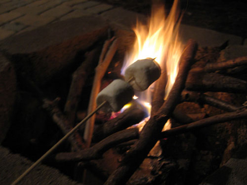 outdoor-fireplace-making-smores