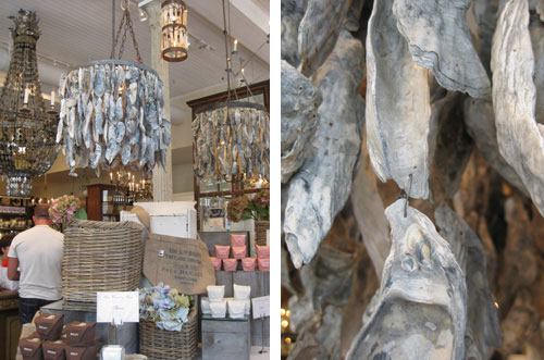 Window shopping sweet savannah young house love oyster shell chandelier amazing hand made creative diy aloadofball Image collections