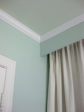 Painting Our Bedroom Ceiling A Soft Green Color Young