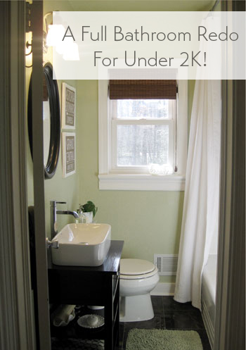 Our bathroom makeover reveal a full reno for under 2k - 5x7 bathroom remodel pictures ...
