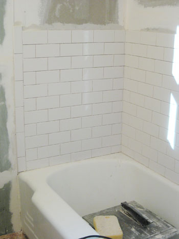 How To Install Subway Tile In A Shower Marble Floor Tiles Young House Love