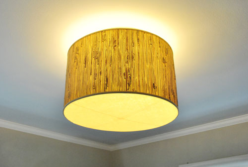 Making a ceiling light with a diffuser from a lamp shade - Diy ceiling light cover ...