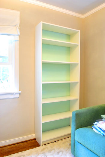 Making An Ikea Bookcase Look Built In Amp Painting The Back Young House Love