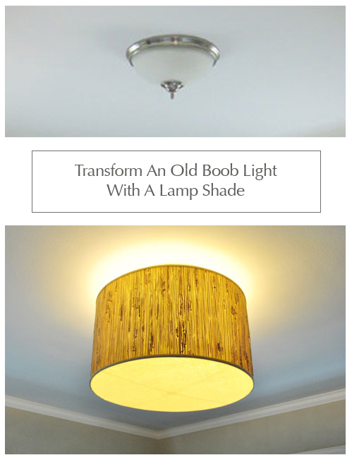 making a ceiling light with a diffuser from a lamp shade