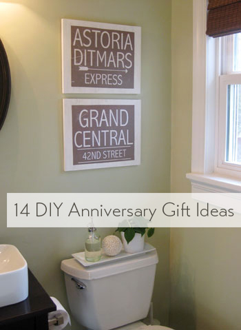 Wedding Anniversary Gift Ideas Diy : Wedding Week III: 14 DIY Anniversary Gift Ideas Young House Love