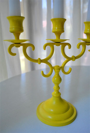 Upgrading An Old Brass Candlestick With Spray Paint