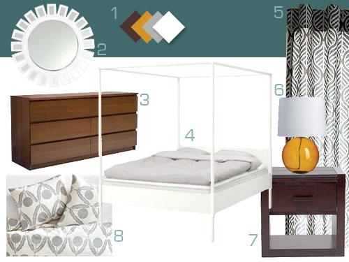Mood Board Making Dark Teal Wood Amp White Bedroom