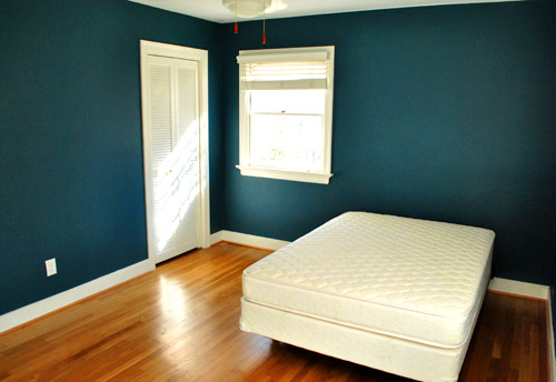 Bold teal walls a handy how we cut in video young house love - How we paint your room ...