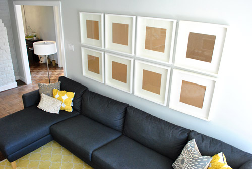 How To Hang A Grid Of Frames Over The Couch And What Not