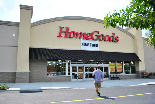 shopper enters a homegoods store in. Homegoods Store