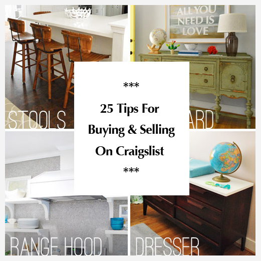 25 tips for buying and selling on craigslist young house for Sites to sell furniture