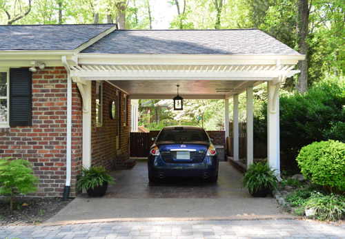 Building a garage or carport pergola young house love for Carport ou garage
