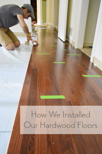 How to install oak hardwood floors young house love for How to install wood flooring